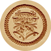 merry christmas springerle cookie mold a