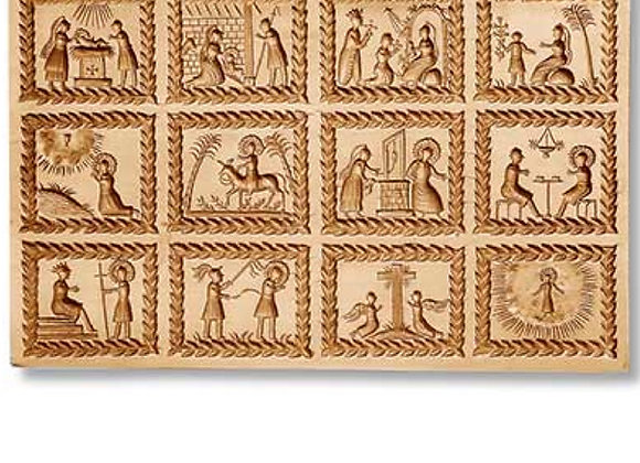 12 Pictures: Life of Christ springerle cookie mold by Änis-Paradies 8882