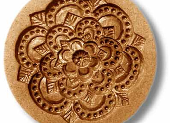 Floral Rosette springerle cookie mold by Anis-Paradies 2335