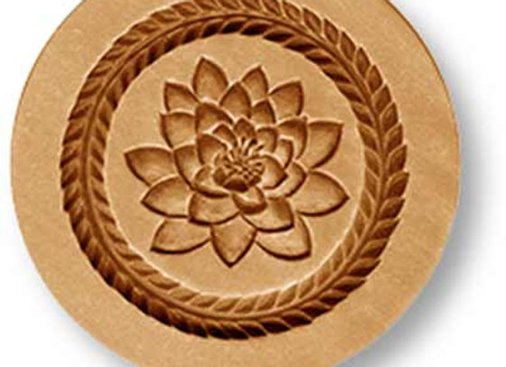 AP 2214 Lotus Blossom flower springerle cookie mold by Anis-Paradies