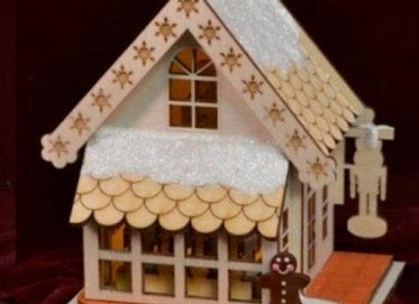 Nutcracker Shop Wooden Ornament by TRC Ginger Cottages