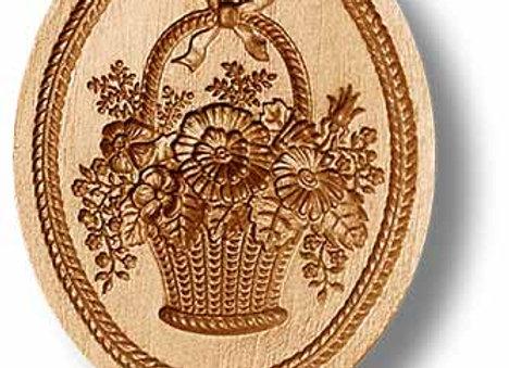 Biedermeier Flower Basket springerle cookie mold by Anis-Paradies 2304