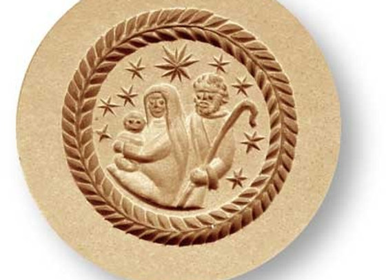 AP 1237 Nativity modern springerle cookie mold by Anis-Paradies