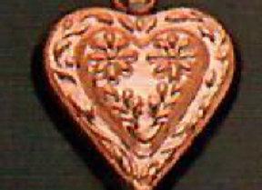 BG 706 Small Swiss Heart Copper Choclolate Baking Mold by Birth-Gramm BG706