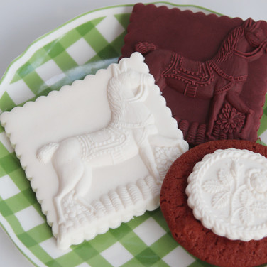 kentucky derby springerle cookie mold