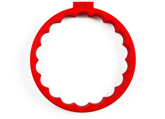C- 17013 Fluted Round cookie cutter by Gingerhaus