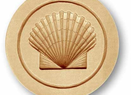 Scallop Shell springerle cookie mold by Anise Paradise 3010