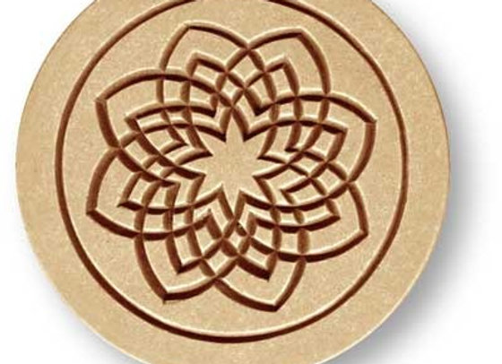 AP 6211 Indian Kolam spiral springerle cookie mold by Anise Paradise 6211