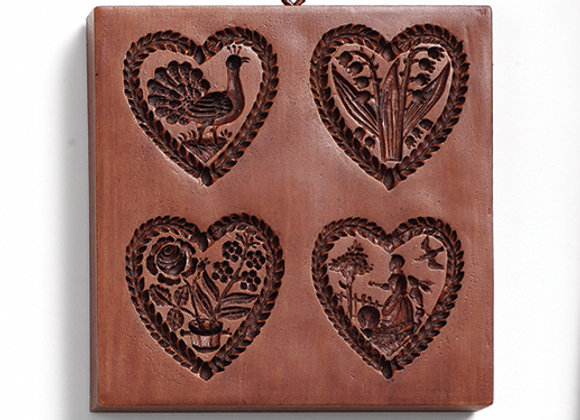 Heartstrings Springerle Cookie Mold  by House on the Hill M5438