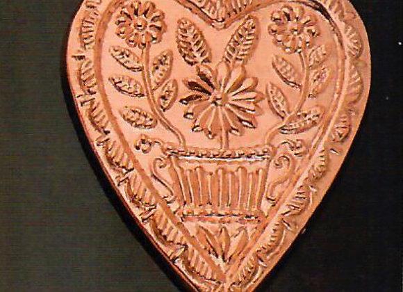 BG 709 Swiss Heart Copper Choclolate Baking Mold by Birth-Gramm BG709