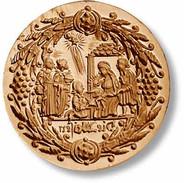 1056 springerle cookie mold nativity