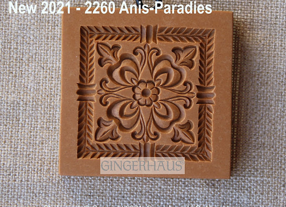 AP 2260 Square Ornament springerle cookie mold by A