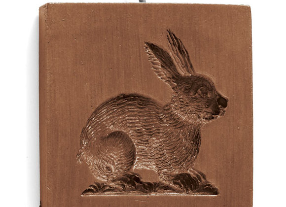 Detail Bunny Springerle Cookie Mold by House on the Hill M5630
