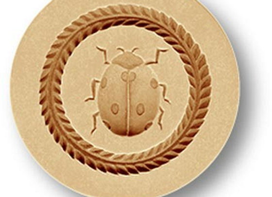 Lucky Lady Bug springerle cookie mold by Anise Paradise 3013