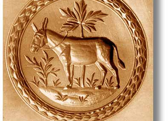 Donkey with Palm springerle cookie mold by Anis-Paradies 1026