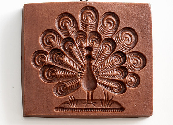 Proud Peacock Springerle Cookie Mold by House on the Hill M5210