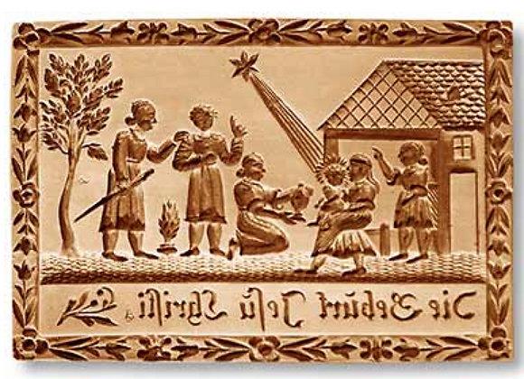Birth of Jesus springerle cookie mold - Anis-Paradies 1144