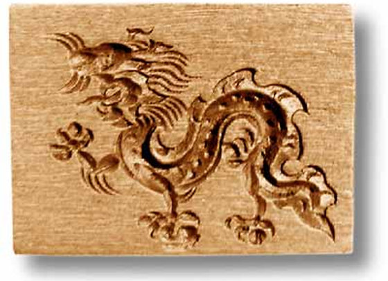 Asian Dragon springerle cookie mold by Anise Paradise 6197