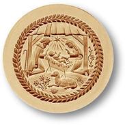 1241 springerle cookie mold manger nativity