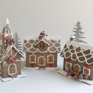 battery operated lit glitter houses