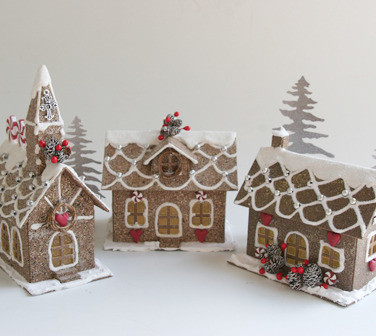 Paper Church House Manor Cottage Glitter