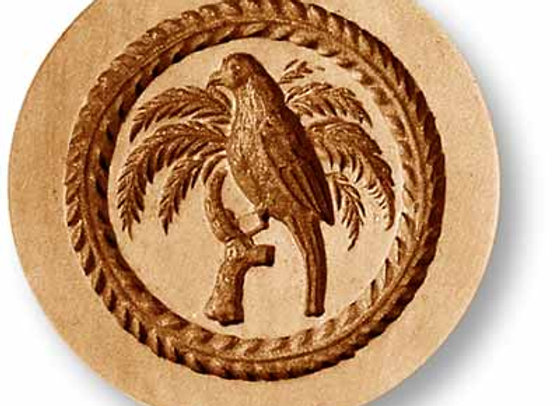 AP 3291 Parrot on Palm Tree springerle cookie mold by Anis-Paradies
