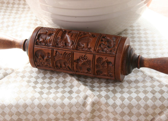 Animal Menagerie Springerle Rolling Pin by House on the Hill M1555