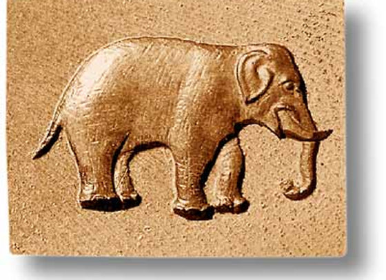 African Elephant springerle cookie mold by Anise Paradise 3401