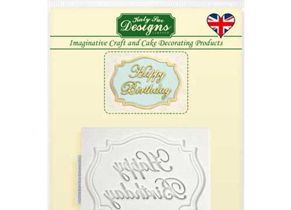 Happy Birthday silicone mold by Katy Sue Designs CP0005