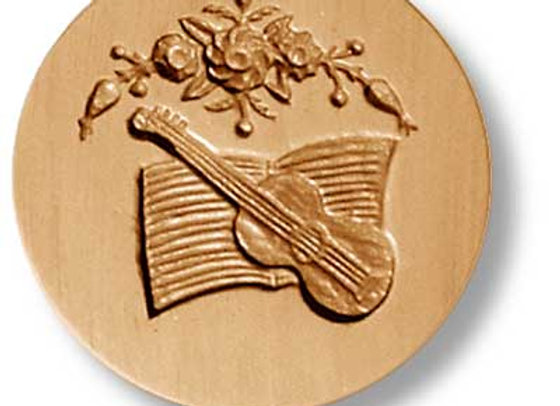 Guitar with Sheet Music springerle cookie mold by Anise Paradise 6829