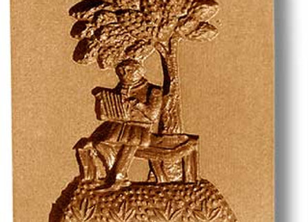 Melodeon Player Music springerle cookie mold by Anise Paradies 06630
