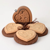 twod doves heart cookies springerle cook