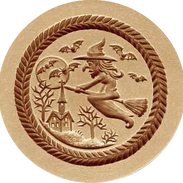 witch springerle cookie mold