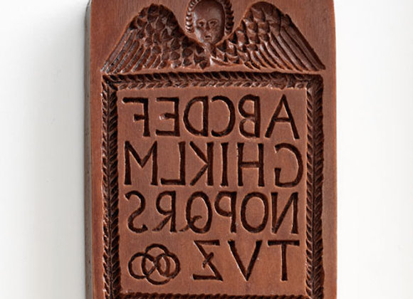 Hornbook Alphabet Springerle Cookie Mold by House on the Hill M2121