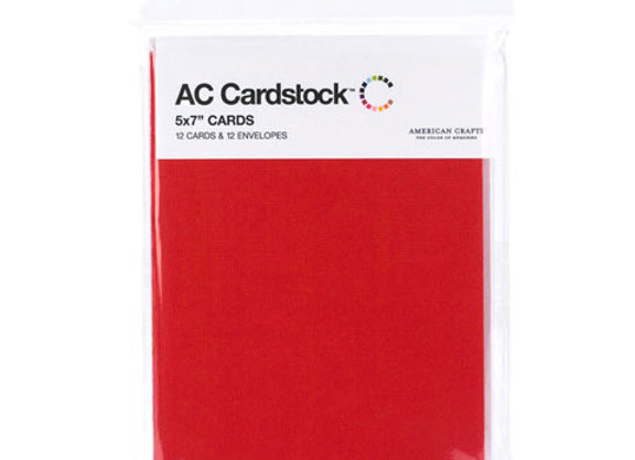 AC CardstockTM Cards and Envelopes - RED - 5 x 7 inches  - AMC71335