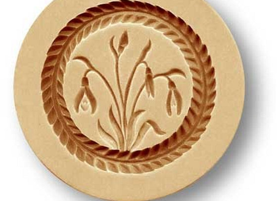 Snowdrop springerle cookie mold by Anise Paradies 2024