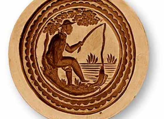 Fisherman springerle cookie mold by Anise Paradise 7386
