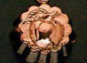 BG105-9 Petite Swiss Apple Copper Choclolate Baking Mold - Birth-Gramm
