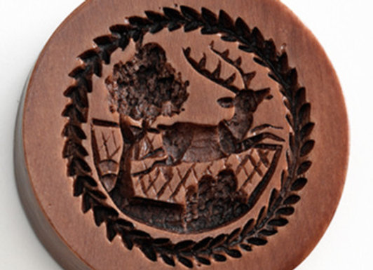 Jumping Stag Springerle Cookie Mold  by House on the Hill M5749
