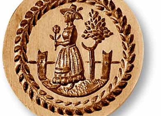 AP 7225 Woman Gardening springerle cookie mold by Anis-Paradies