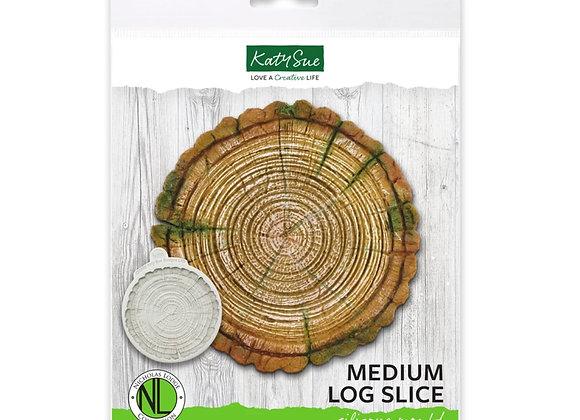 DM0056 Medium Log Slice silicone mold by Katy Sue Designs