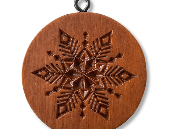 M11605 Crystal Snowflake Springerle Cookie Mold  by House on the Hill