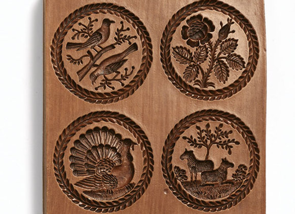 Four Pictures seasons Springerle Cookie Mold  by House on the Hill M4181