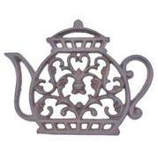 teapot shaped cast iron trivet teapot tr