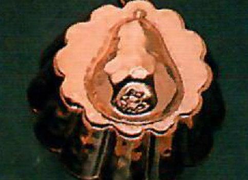 Swiss Pear Copper Choclolate Baking Mold by Birth-Gramm BG1103-pear