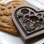 Pomegranate Heart Springerle Cookie Mold