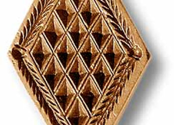 Diamond with diamond design springerle cookie mold by Anise Paradise