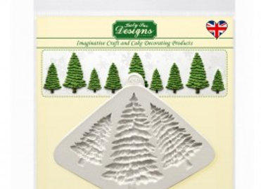 CE0052 Fir Trees silicone mold by Katy Sue Designs CE0052