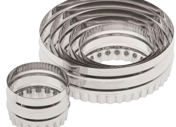 14400 Six Piece Double Sided Round Stainless Cutter Set by Ateco