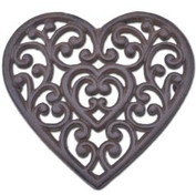 heart shaped cast iron trivet heart triv